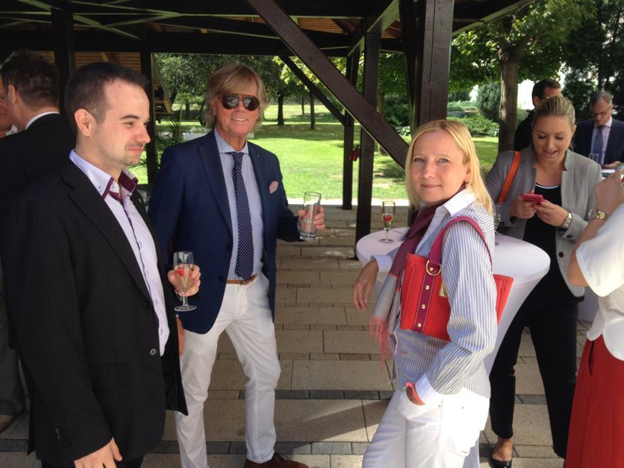 Jan Šrámek from Thomas Cook, SKAL Club Prague President Heinz Reigl and Martina Bodemann