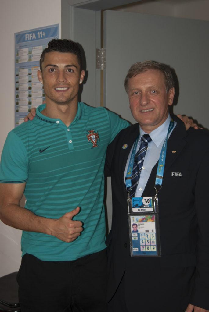 Jiří Chomiak se světoznámým fotbalistou Cristianem Ronaldem