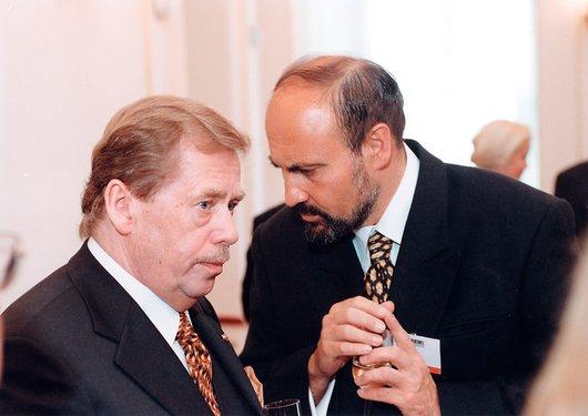 Tomáš Halík s Václavem Havlem