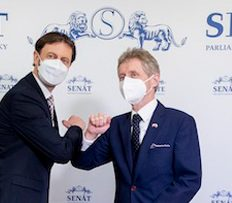 Český Senát přivítal nového slovenského premiéra Eduarda Hegera (15.04.2021)