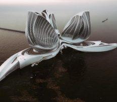 Slovenka navrhla futuristickou plovoucí stanici čistící oceán od odpadu