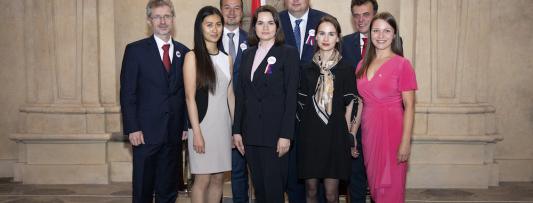 At the invitation of the President of the Czech Senate, Sviatlana Tsikhanouskaya arrived in Prague